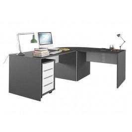 RIOMA set psacích stolů, grafit/bílá