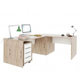 Smartshop RIOMA set psacích stolů, dub san remo/bílá