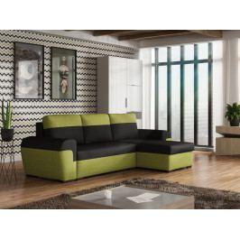 Smartshop Rohová sedačka FILO, černá látka/zelená látka