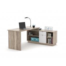 Monoblok stolový VE02, dub canyon/bílá
