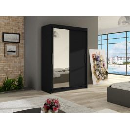 Smartshop Šatní skříň MIAMI VI, černý mat/zrcadlo