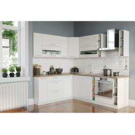 Rohová kuchyně TIFFANY 190x230, bílý lesk