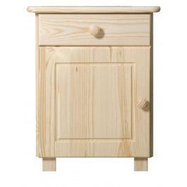 Noční stolek MEGA, masiv borovice
