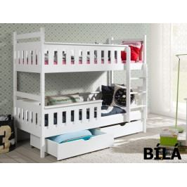 Patrová postel TEZO 90x190 cm, masiv borovice/barva:..