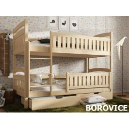 Patrová postel IGNAS 80x180 cm, masiv borovice/barva:..