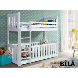 Patrová postel CRIS 80x180 cm, masiv borovice/barva:..