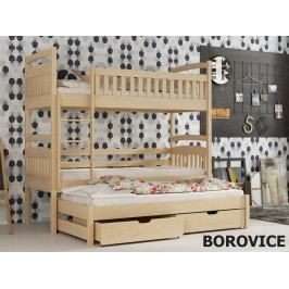 Smartshop Patrová postel s přistýlkou AREK 80x180 cm, masiv borovice/barva:..
