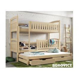 Patrová postel s přistýlkou BLANKA 80x180 cm, masiv borovice/barva:..