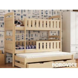 Patrová postel s přistýlkou ANATOL 80x180 cm, masiv borovice/barva:..