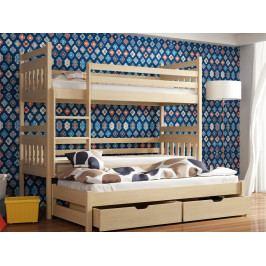 Patrová postel s přistýlkou SEWERYN 90x200 cm, masiv borovice/barva:..