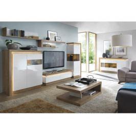 LYON obývací pokoj, dub riviera/bílá