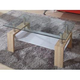 LIBOR konferenční stolek, sklo/dub sonoma