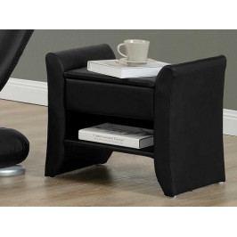 Smartshop BOLTON čalouněný noční stolek, černá