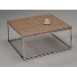 NATANEL konferenční stolek, dub sonoma/chrom