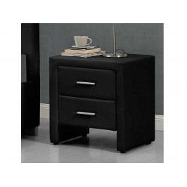 Smartshop CASTEL čalouněný noční stolek, černá