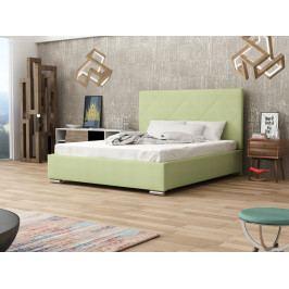 Čalouněná postel SOFIE 5 160x200 cm s roštem a matrací, zelená látka