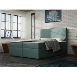 Čalouněná postel BAX 180x200 cm s matrací, světle tyrkysová látka