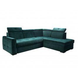 Rozkládací rohová sedačka VENTURO 1 pravá, zelená látka