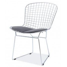 Jídelní židle FINO, chrom/černá