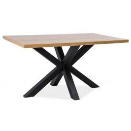 Jídelní stůl CROSS 150x90, masiv dub/černá