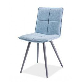Smartshop Jídelní čalouněná židle DARIO, modrá
