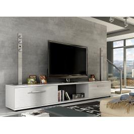 Smartshop Televizní stolek MOLTON RTV, bílá/bílý lesk