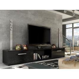 Smartshop Televizní stolek MOLTON RTV, černá/černý lesk