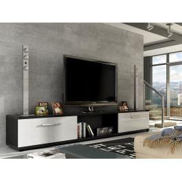 Smartshop Televizní stolek MOLTON RTV, černá/bílý lesk