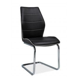 Jídelní čalouněná židle H-331, černá