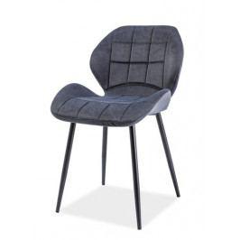 Jídelní čalouněná židle HALS, grafit