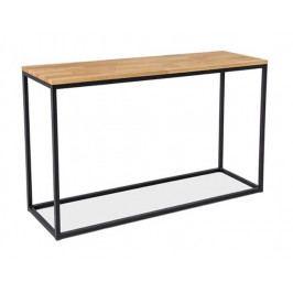 Konzolový stolek LORAS K, dub/černá