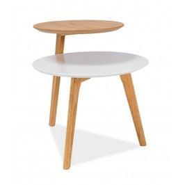 Konferenční stolek NEO, bílá/dub