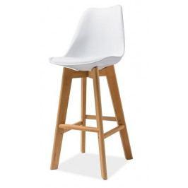 Smartshop Barová židle KRIS H-1, bílá/buk