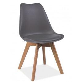 Smartshop Jídelní židle KRIS, šedá/buk