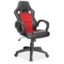 Kancelářské křeslo Q-103, černá/červená