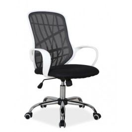 Kancelářské křeslo DEXTER, černá/bílá