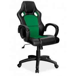 Kancelářské křeslo Q-103, černá/zelená