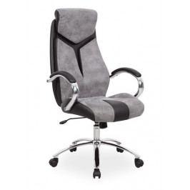 Kancelářské křeslo Q-165, černá/šedá