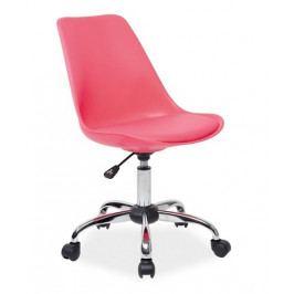 Kancelářská židle Q-777, růžová