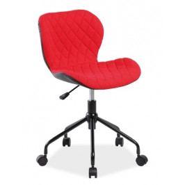 Kancelářské křeslo RINO, červená/černá