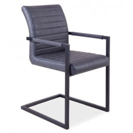 Jídelní čalouněná židle SOLID, šedá