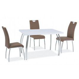 Smartshop Jídelní stůl SK-2 102x64, bílý lesk