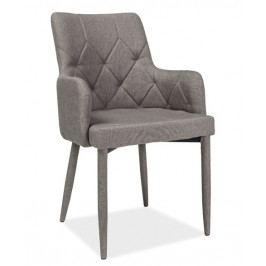 Jídelní čalouněná židle RICARDO, šedá