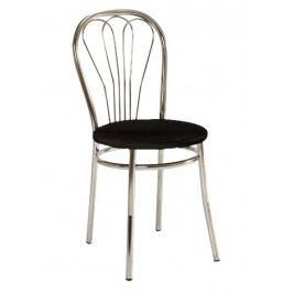 Jídelní čalouněná židle V-1, černá