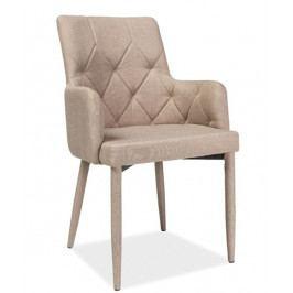 Jídelní čalouněná židle RICARDO, béžová