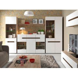 Obývací pokoj ELPASSO, dub san remo světlý/bílá
