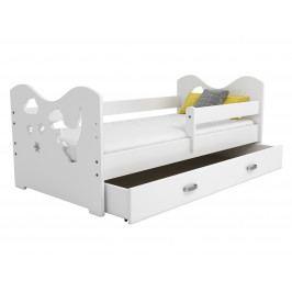 Dětská postel MIKI B3 80x160, bílá + barva čela: …