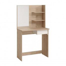 Toaletní stolek PRECIOUS, dub/bílá