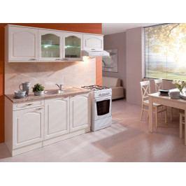 Kuchyně JULIE 150/210 cm, korpus vanilka/dvířka magnolie