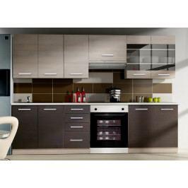 Kuchyně CHAMONIX 180/240 cm, tmavé legno/dub ferrara